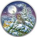 Канада 30 долларов 2017 Ушастая Сова в Лунном свете (Canada 30$ 2017 Glow-In-The-Dark Coin - Animals in the Moonlight Great Horned Owl).Арт.60