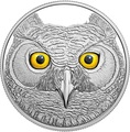 Канада 15 долларов 2017 Ушастая Сова (Canada 15$ 2017 Glow-In-The-Dark Coin Great Horned Owl).Арт.60