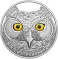 Канада 15 долларов 2017 Ушастая Сова (Canada 15$ 2017 Glow-In-The-Dark Coin Great Horned Owl).Арт.60