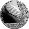 Ниуэ 1 доллар 2017 Дирижабль Гинденбург – Век полетов (Самолет Дирижабль Спутник) Niue 1 dollar 2017 Century of flight Hindenburg Airship.Арт.60