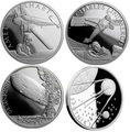 Ниуэ 4х1 доллар 2017 Амелия Эрхарт Чарльз Линдберг Дирижабль Гинденбург Спутник 1 – Век полетов (Самолет Дирижабль Спутник) Niue 4х1 dollar 2017 Century of flight Amelia Earhart Charles Lindbergh Hindenburg Airship Launch of Sputnik 1.Арт.60