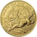 Великобритания 100 фунтов 2018 Год Собаки – Лунный календарь (Lunar Year of the Dog 2018 £100 UK 1 oz Gold).Арт.0079924/1160E/60