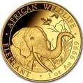 Сомали 1000 шиллингов 2018 Африканский Слон (Somali 1000 Shillings 2018 African Elephant 1 oz Gold).Арт.79924/1160E/60