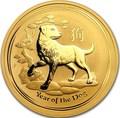 Австралия 100 долларов 2018 Год Собаки – Лунный календарь (Australia 100$ 2018 1 oz Gold Lunar Dog).Арт.60