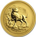 Австралия 15 долларов 2018 Год Собаки – Лунный календарь (Australia 15$ 2018 1/10 oz Gold Lunar Dog).Арт.60