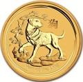 Австралия 25 долларов 2018 Год Собаки – Лунный календарь (Australia 25$ 2018 1/4 oz Gold Lunar Dog).Арт.60