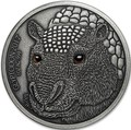 Буркина Фасо 1000 франков 2017 Глиптодон - Эффект реальных глаз (Burkina Faso 1000 Francs CFA 2017 The Glyptodon High Relief).Арт.60