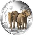 Ниуэ 2 доллара 2015 Слоны Фен-Шуй (Niue 2$ 2015 Elephant Feng Shui).Арт.000533549621/60