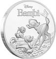 Ниуэ 2 доллара 2017 Олененок Бэмби с друзьями Заяц Скунс Бабочка (Niue $ 2 2017 Deer Bambi).Арт.60
