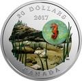Канада 20 долларов 2017 Морской Конек серия Под водой 3D Капля (Canada 20C$ 2017 Under the Sea Sea Horse).Арт.60