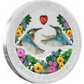 Ниуэ 2 доллара 2018 Любовь – Зимородки (сердце цирконий) Niue 2$ 2018 Love is Precious Kingfishers.Арт.60