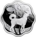 Китай 10 юаней 2017 Год петуха – Лунный календарь (China 5Y 2018 Year of the Dog Lunar calendar Lotus).Арт.60