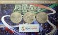 Япония 3x500 йен 2002 Футбол ФИФА 2002 Чемпионат мира в Корее и Японии (Japan 3x500y 2002 Football FIFA World Cup 2002 Korea Japan coin set).Арт.000342440562/60