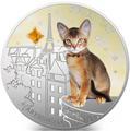 Фиджи 2 доллара 2013 Абиссинская кошка - Супер кошка серия Собаки и Кошки (Fiji 2$ 2013 Super Cat Abyssinian Dogs and Cats).Арт.000405649010/60