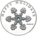 Палау 1 доллар 2006 Снежинка – Рождественские праздники (Palau 1$ 2006 Happy holidays Snowflake Swarovski).Арт.000227513413/60