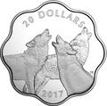 Канада 20 долларов 2017 Лесной Волк Эксклюзивная серия Мастер Клуб (Лотос) Canada 20$ 2017 EXCLUSIVE Masters Club Coin Series Timber Wolf.Арт.60