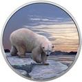 Канада 30 долларов 2018 Полярный Медведь серия Арктические животные и Северное сияние (Canada 30$ 2018 Glow-In-The-Dark Coin Arctic Animals and Northern Lights Polar Bear).Арт.60