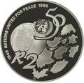 Южная Африка 2 ранда 1995 50 лет ООН (South Africa 2R 1995 50th Anniversary United Nations).Арт.000107441907/60