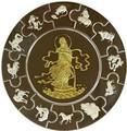 Либерия 100 долларов 2001 Гуаньинь Богиня Любви Пазл Килограмм (Liberia 2001 100$ Puzzle Coin Lady Kuan Yin 1kg).Арт.60