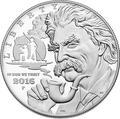 Соединенные Штаты Америки 1 доллар 2016 Марк Твен, Лягушка Лошадь Рыбалка Книга (2016 US 1$ Mark Twain Proof).Арт.000432553001/60
