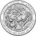 Соединенные Штаты Америки 1 доллар 2017 Международный Клуб Львов (2017 US 1$ Lions Club International Centennial Proof).Арт.000370153838/60