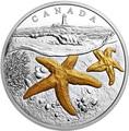 Канада 20 долларов 207 Атлантическая морская звезда Маяк (Canada 20C$ 2017 From Sea To Sea Atlantic Starfish).Арт.60