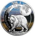 Ниуэ 1 доллар 2017 Атласский медведь SOS (Niue 1$ 2017 SOS To The World They Are Gone Atlas Bear).Арт.60