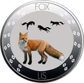 Ниуэ 1 доллар 2016 Лиса (Niue 1$ 2016 Fox Nature Symbols).Арт.60