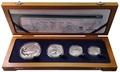 Южная Африка 85 центов 2014 Акулы Дельфины Black Musselcracker Аммонит Морские животные Охрана морских территорий Набор 4 монеты (South Africa 85c 2014 Marine Areas 4 coin Prestige Set).Арт.002073850461/60