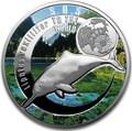 Ниуэ 1 доллар 2016 Китайский Речной Дельфин SOS (Niue 1$ 2016 SOS To The World They Are Gone Chinese White Dolphin).Арт.60