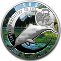 Ниуэ 1 доллар 2016 Китайский Речной Дельфин SOS (Niue 1$ 2016 SOS To The World They Are Gone Chinese White Dolphin).Арт.60