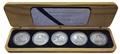 Острова Кука 5х5 долларов 1999 Корабли которые сделаны в Австралии Набор 5 монет (Cook Islands 5 Coins Set 1999 Ships that made Australia 2oz).Арт.60