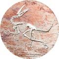 Монголия 2000 тугриков 2018 Велоцираптор (Mongolia 2000T 2018 Velociraptor 3 oz Silver Coin).Арт.60