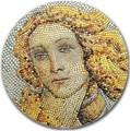 Палау 20 долларов 2017 Рождение Венеры Боттичелли серия Великое Увлечение Микромозаикой (Palau 20$ 2017 Birth of Venus Botticelli Great Micromosaic Passion).Арт.60