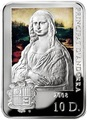 Андорра 10 динеров 2008 Мона Лиза Леонардо да Винчи Художники мира (Andorra 10D 2008 Leonardo Da Vinci Mona Lisa Painters of the World).Арт.000206820028/60