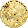 Канада 50 долларов 2012 Год Дракона Лунный Календарь Унция Золота Пруф (Canada 50C$ 2012 Year of the Dragon 1oz Gold Proof).Арт.009151355576/K1,86