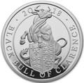 Великобритания 2 фунта 2018 Черный Бык Кларенса серия Звери Королевы (GB 2£ 2018 Queen's Beast The Black Bull of Clarence).Арт.60
