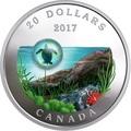 Канада 20 долларов 2017 Морская Черепаха серия Под водой 3D Капля (Canada 20C$ 2017 Under the Sea Sea Turtle).Арт.60