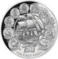 Ниуэ 5 долларов 2018 Первый Флот Корабли (Niue 5$ 2018 First Fleet).Арт.000952255562/60