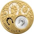 Ниуэ 2 доллара 2013 Подкова Коровка Монеты на Удачу (Niue 2$ 2013 Lucky Coin Horseshoe GPL).Арт.000330349055/60