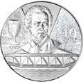 Греция 10 евро 2017 Дионисиос Соломос (Greece 10E 2017 Dionysios Solomos Poet The Age of Iron & Glass).Арт.000478055551/60