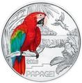 Австрия 3 евро 2018 Попугай (Colourful Creatures The Parrot Austria 3 euro 2018).Арт.60