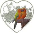 Токелау 1 доллар 2018 Любовь Птиц Попугаи Сердце (Tokelau 1$ 2018 Love Parrots Bird Heart Shaped).Арт.60