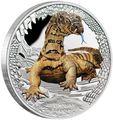 Тувалу 1 доллар 2016 Ящерица Варан Замечательные Рептилии (Tuvalu 1$ 2016 Goanna Remarkable Reptiles 1oz Silver Coin).Арт.000412652666/60