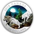 Канада 20 долларов 2018 Волки Геометрическая Фауна (Canada 20C$ 2018 Geometric Fauna Grey Wolves).Арт.60