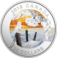 Канада 20 долларов 2018 Белая Сова Геометрическая Фауна (Canada 20C$ 2018 Geometric Fauna Snowy Owls).Арт.60