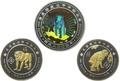 Того 1000+1000+2000 франков 2004 Год Обезьяны Лунный Календарь Голограмма Набор 3 монеты (Togo 1000+1000+2000 Francs 2004 Year of the Monkey Lunar Calendar Hologram 3 coin set).Арт.0900000028/60