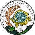 Куба 10 песо 1996 Рыба Parche Amarillo Карибская Фауна (Cuba 10 pesos 1996 Caribbean Fauna Parche Amarillo).Арт.60