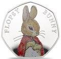 Великобритания 50 пенсов 2018 Кролик Флопси Банни Персонажи Беатрис Поттер (UK 50 pence 2018 Flopsy Bunny Beatrix Potter Silver).Арт.60