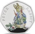 Великобритания 50 пенсов 2018 Кролик Питер Персонажи Беатрис Поттер (UK 50 pence 2018 Peter Rabbit Beatrix Potter Silver).Арт.60